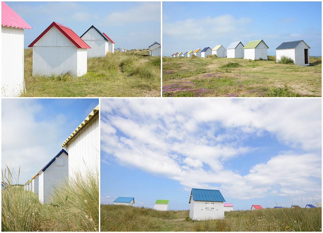 cabines de gouville-sur-mer, manche, cotentin, normandie