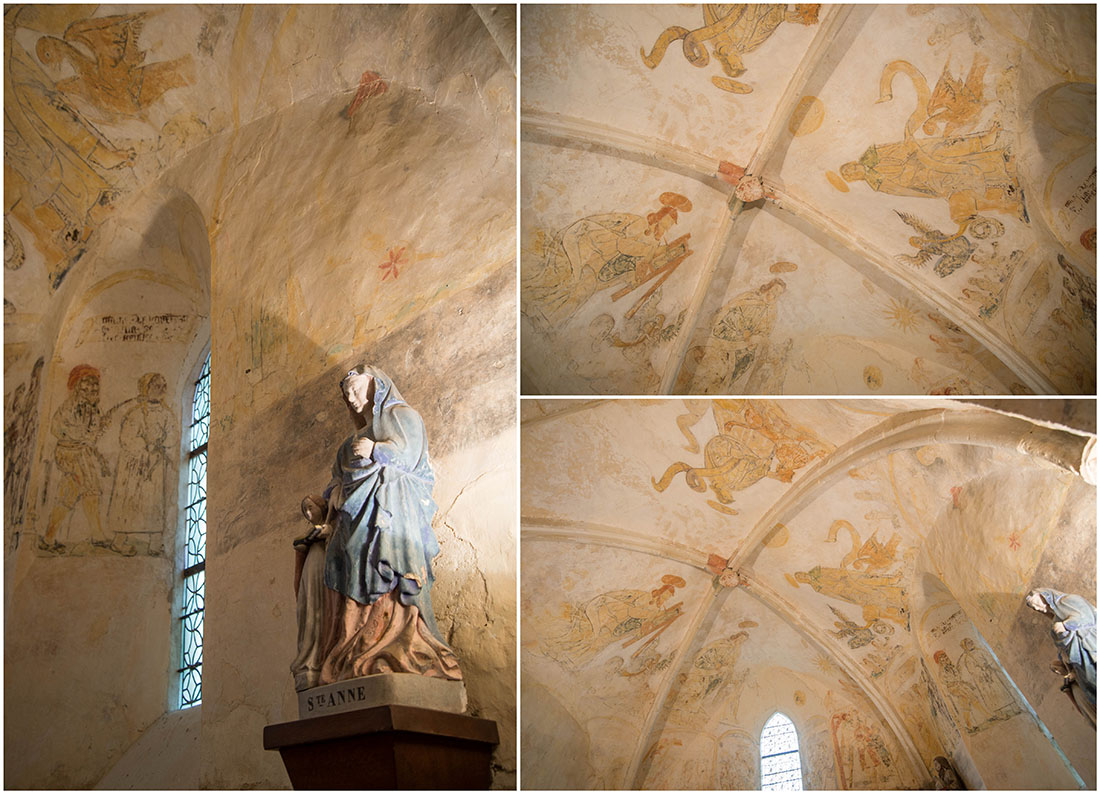 fresques de l'église de Canville-la-Rocque, cotentin